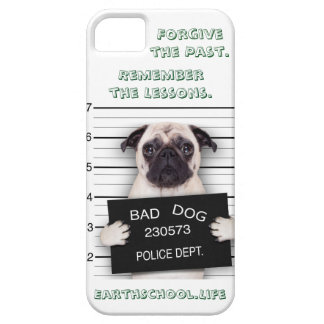 "Bad Pug. ""Forgive the Past. Remember the Lessons."" iPhone SE/5/5s Case"