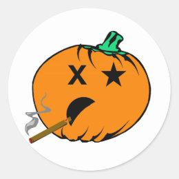 Bad Pumpkin Classic Round Sticker