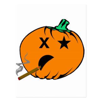 Bad Pumpkin Postcard