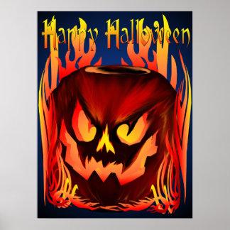 Bad Pumpkin Poster lettered Poster