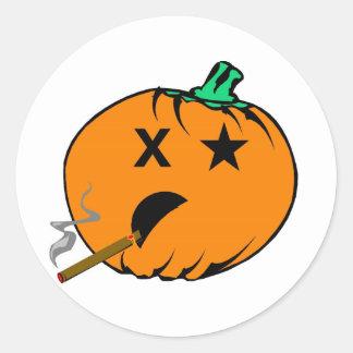 Bad Pumpkin Round Sticker