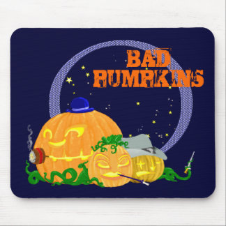 Bad pumpkins mouse pad