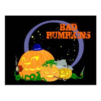 Bad pumpkins postcard
