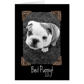 Bad Puppy! Greeting Card