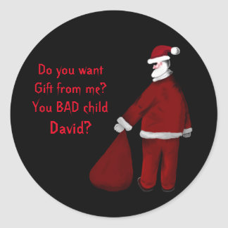 Bad Santa Classic Round Sticker