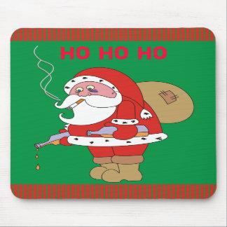 Bad Santa Funny Christmas Mousepad,Xmas Mousepads