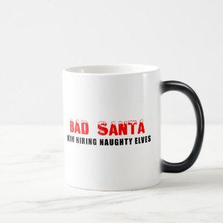 Bad Santa Now Hiring Naughty Elves Magic Mug