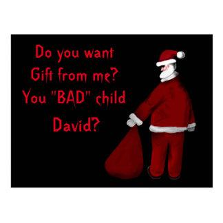 Bad Santa Postcard