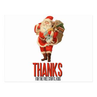 Bad Santa Rob Your House Postcard