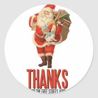 Bad Santa Rob Your House Stickers