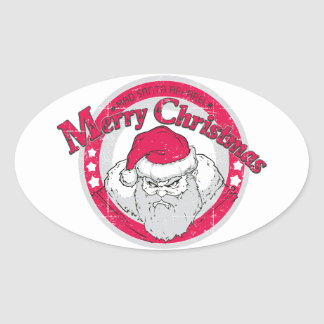 Bad Santa Sticker Ovale