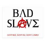 Bad Slave Post Card