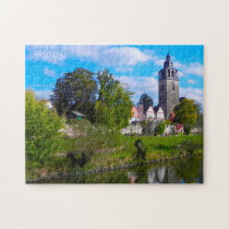 Bad Sooden Church Allendof Germany. Jigsaw Puzzle