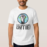 Bad spellers of the world UNTIE! (Distressed) T-Shirt