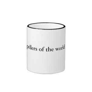 Bad spellers of the world untie! ringer coffee mug