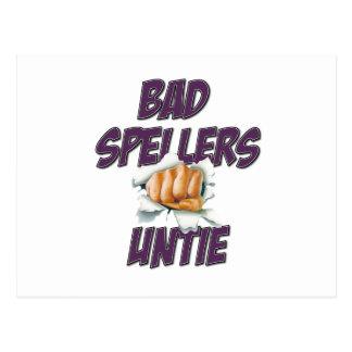 Bad Spellers! Postcard