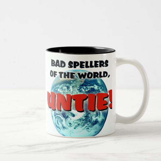 Bad Spellers Two-Tone Coffee Mug