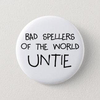 Bad Spellers Untie Button