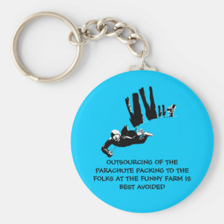 Bad taste but funny skydiving basic round button keychain