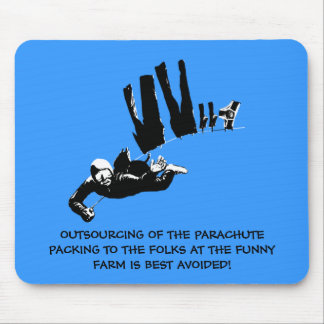 Bad taste but funny skydiving mouse pad