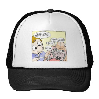 """""""Bad Teeth"""" Funny Dentistry Gifts Tees Collectible Trucker Hat"""