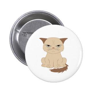 Bad-tempered cat 2 inch round button