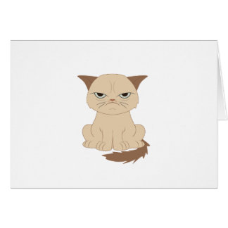 Bad-tempered cat card