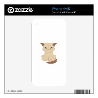 Bad-tempered cat decal for the iPhone 4S