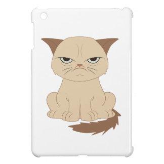 Bad-tempered cat iPad mini cases