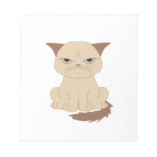 Bad-tempered cat notepad