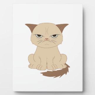 Bad-tempered cat plaque