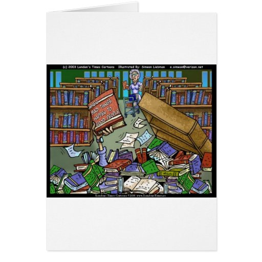 Bad Things Happen Funny Gifts Tees & Collectibles Card