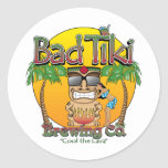Bad Tiki Brewing Company Classic Round Sticker