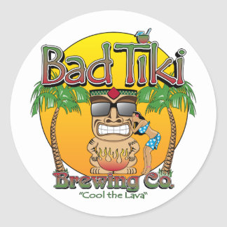Bad Tiki Brewing Company Classic Round Sticker