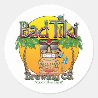 Bad Tiki Brewing Company Pegatina Redonda