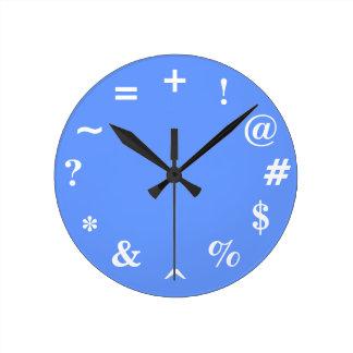 Bad Time - blue Round Clock