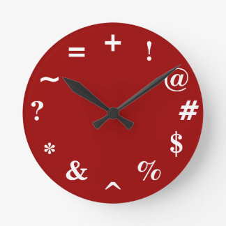 Bad Time - red Round Clock