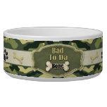 Bad To Da Bone Camo Dog Dish - Customize