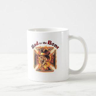 Bad to the bone classic white coffee mug