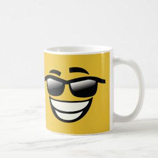 Bad to the Bone cool guy Emoji Coffee Mug