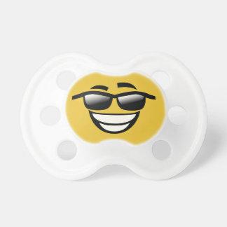 Bad to the Bone cool guy Emoji Pacifier
