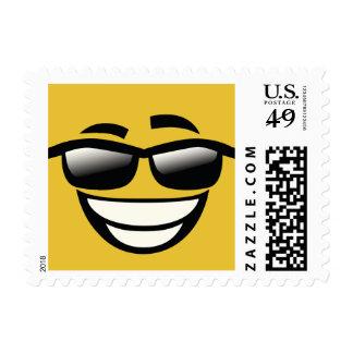 Bad to the Bone cool guy Emoji Postage