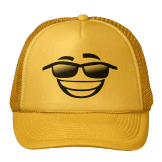 Bad to the Bone cool guy Emoji Trucker Hat