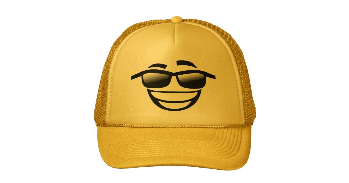 bad to the bone cool emoji trucker hat zazzle