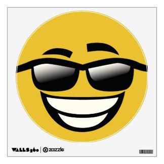 Bad to the Bone cool guy Emoji Wall Decal