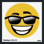 """Bad to the Bone cool guy Emoji Wall Decal<br><div class=""""desc"""">Bad to the Bone cool guy Emoji. Cute emoji wall decals.     Contact me for custom design requests.</div>"""