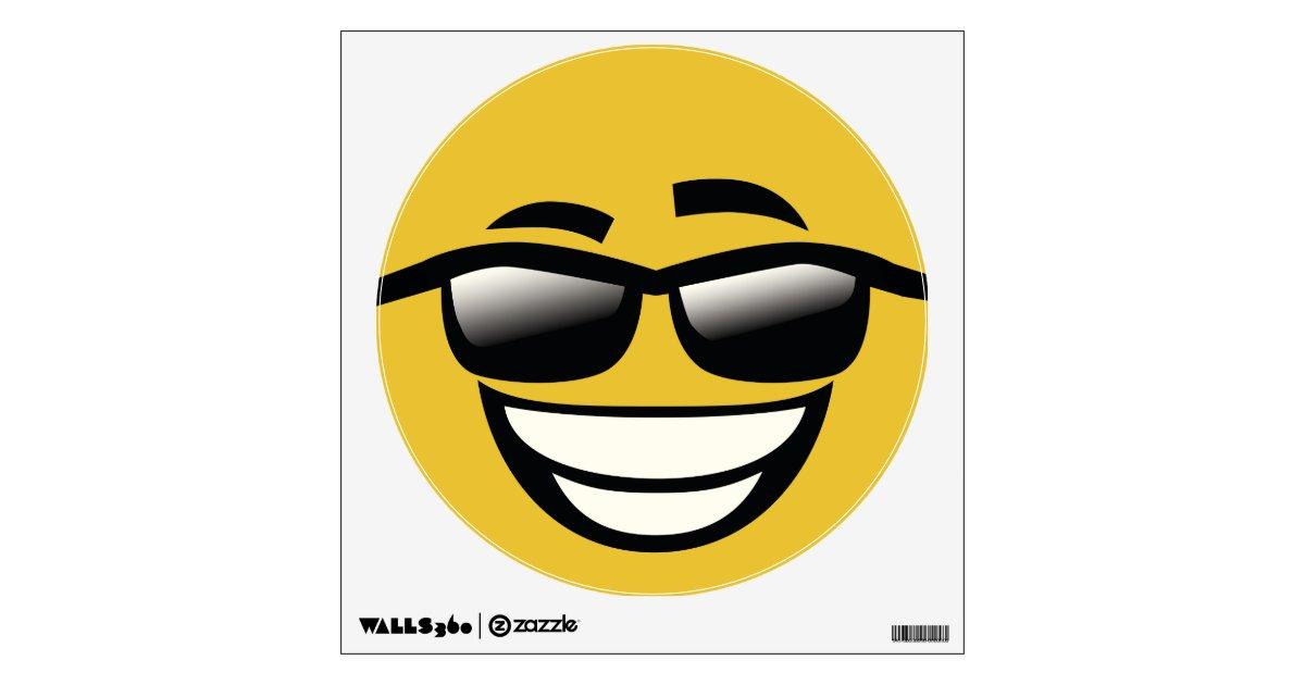 bad to the bone cool guy emoji wall decal zazzle com