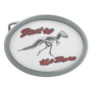 Bad to the Bone Dinosaur Belt Buckle