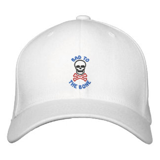 Bad To The Bone Embroidered Skull Cap