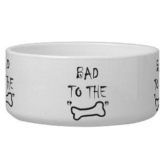 Bad To The BONE Lg Pet Bowl